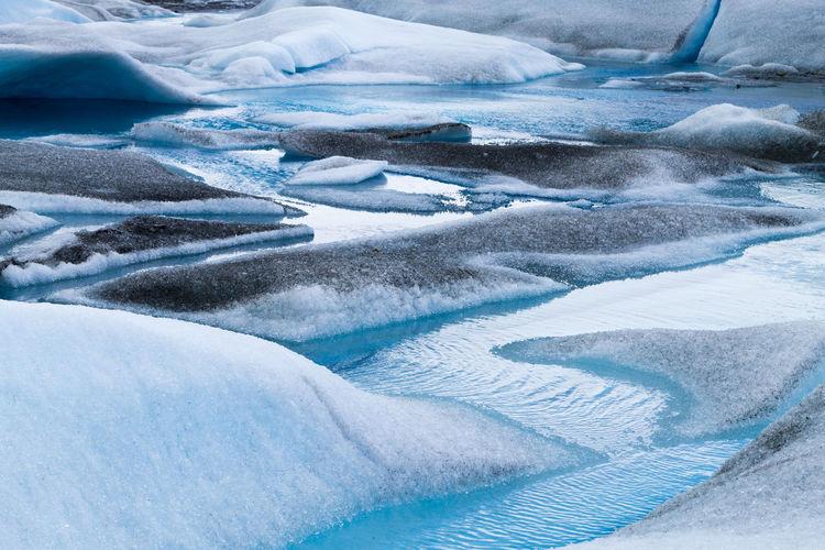 Full frame shot of frozen landscape