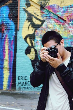 Snap A Stranger Deepellum Nikon Canont3 Canon Camera - Photographic Equipment Men Day One Person Graffiti Creativity City Outdoors Dallas Tx Texas