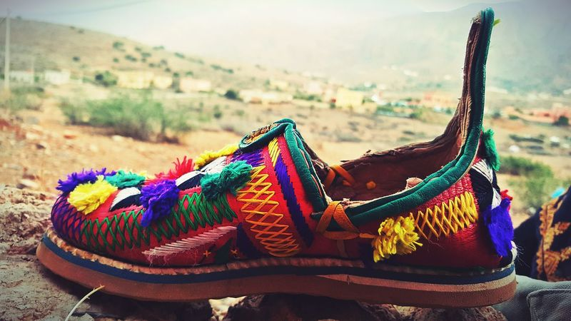 MoroccoBabouche Amazigh Tafraout Idaougnidif Warm Colors Nature Color Photography Artisanat Red