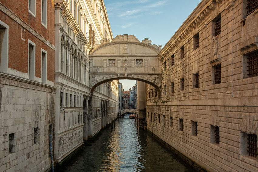 The sigh bridge in Venice ... Arch Architecture Bridge Bridge - Man Made Structure Building Canal City Day Incidental People Sigh Bridge Tourism Transportation Travel Travel Destinations Water