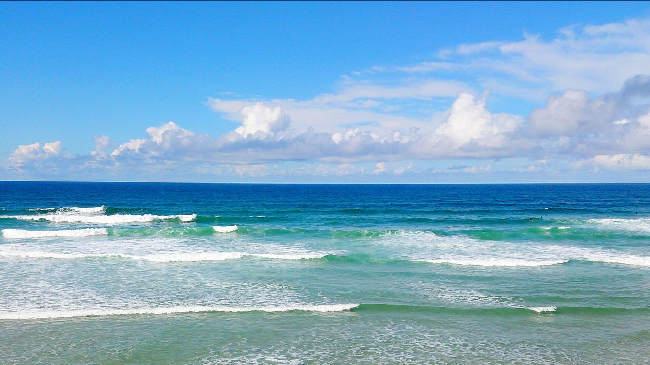 sea, beauty in nature, horizon over water, scenics, nature, wave, beach, sky, water, tranquility, no people, tranquil scene, day, cloud - sky, blue, outdoors