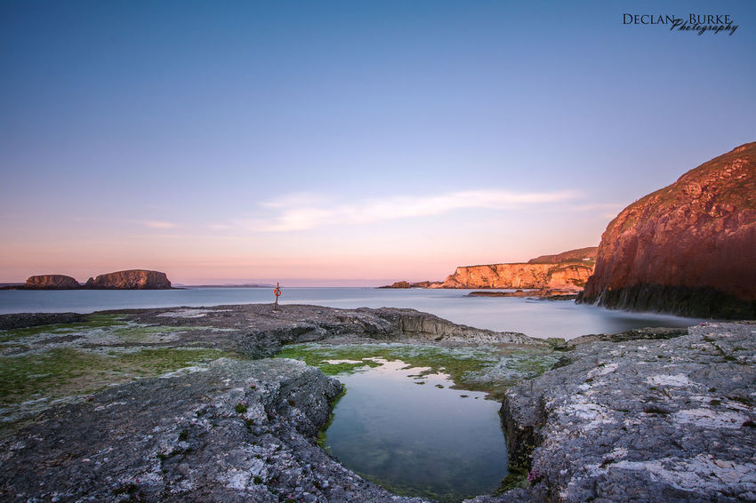 Ballintoy at sunset. County Antrim, Northern Ireland