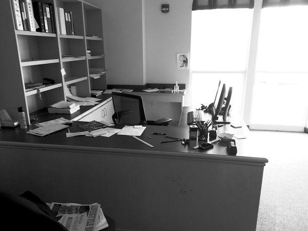 Office Shelf No People Window Indoors  Day Blackandwhite Black & White Black And White Black And White Photography Papers Desk Desktop Pc Computer