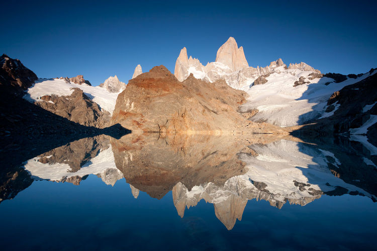 Mt Fitz Roy Fitzroy Patagonia Mountain View Water Reflections Reflection Reflection_collection Reflections Reflected Glory Landscapes With WhiteWall Landscapes With Whitewall Winners The Great Outdoors - 2016 EyeEm Awards
