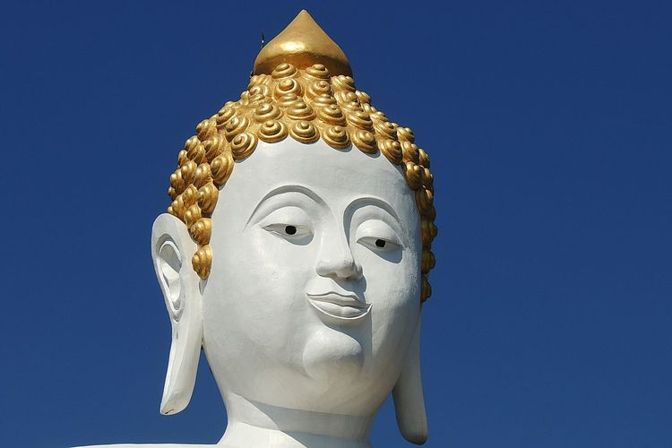Buddah Big Buddah Buddah Representation พระธาตุดอยคำ Stone Material Culture Human Representation Sky Art And Craft Clear Sky Lord Buddha Thailand