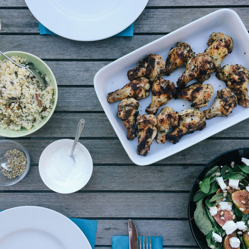 Barbecue Chicken On Table