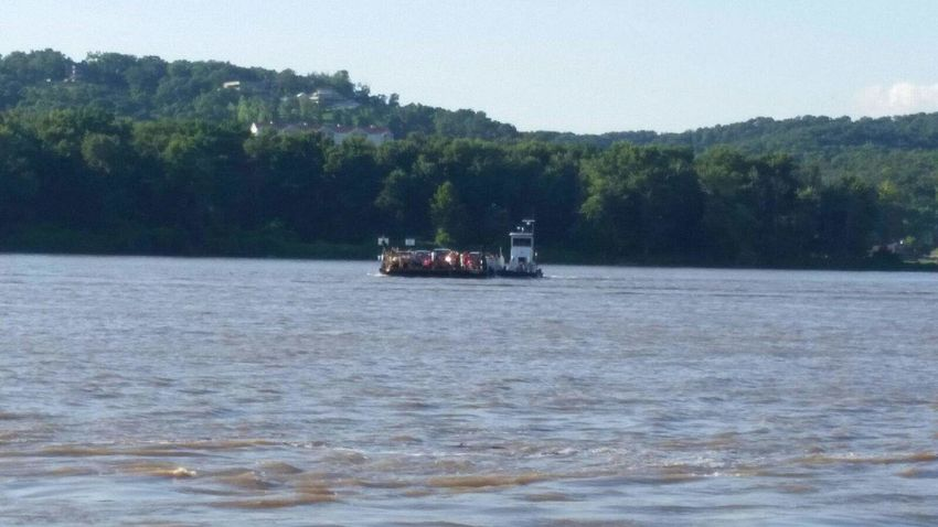 Land And Sky Land Water Water And Sky View Land And Water Ferryview Ferry Crossing Ferry Boat Ferry Ferryboat Taking Photos Ferry Views Mississippi River Mississippi  River River View Scenery Sky And Water Landscape