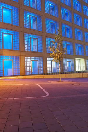 Stadtbibliothek | Stuttgart Architecture Architecture_collection Architecturelovers Blue Building Exterior City Façade Illuminated Minimal Minimalism Minimalist Architecture Minimalobsession Night Photography No People The City Light Tree Urban Photography