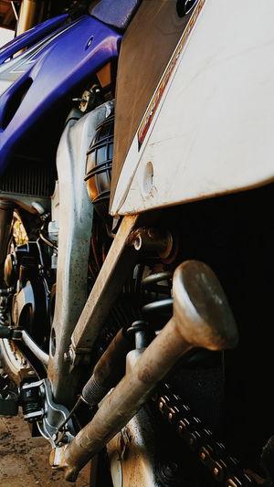 Close-up of train