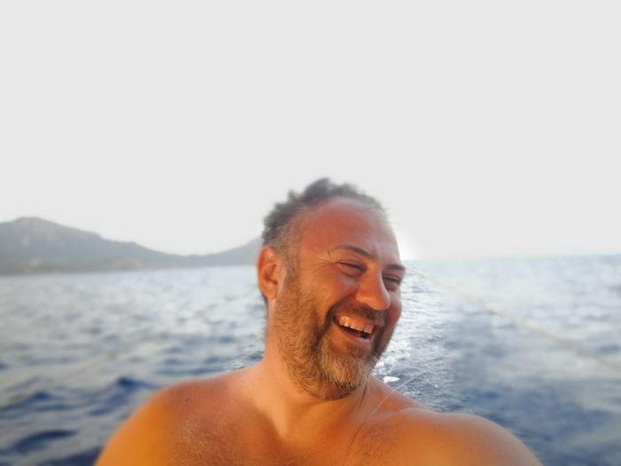 Enjoying Life Sailing Lifeisgood EyeEm Selects Sea Men Smiling Beach Cheerful Clear Sky Gray Hair Headshot Summer
