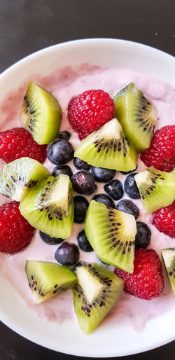 fruits and berries Food Joghurt Kiwi Yummy Breakfast Healthy Healthy Eating Fruit Kiwi - Fruit Strawberry Healthy Eating Food Food And Drink Freshness Raspberry Blueberry Day Sweet Food SLICE Ready-to-eat Close-up Dessert