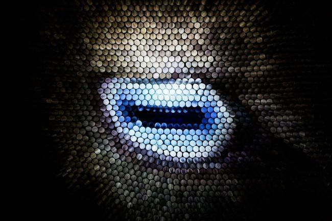 Abstract Circles Eye Strawcamera Straws Textured  Illuminated Pixelated Multi Colored No People Pattern Goat