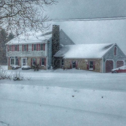 Snow is drifting up to the windows across the street.... January2015 Blizzard 2015 Nature Snow ❄ IPhone Photography IPhoneography How's The Weather Today?