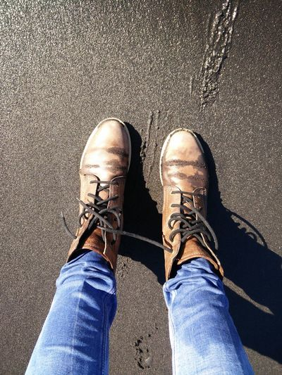 Shoe Human Body Part One Person Jeans Human Leg Standing Low Section People Men One Man Only Real People Adult Day Close-up Indoors  Adults Only Only Men Black Beach Lava Beach Icelandic Beach Wet Boots Iceland Vik Vik, Icelamd Wet Sand The Great Outdoors - 2017 EyeEm Awards