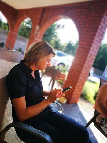 Relax Relaxing Telephone Communication City Sitting Working Women Human Hand