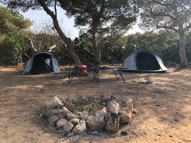 First time camping for the lil man! Malta Fire Pit Camp Site Camping Tent