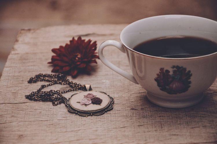 Indoors  Table Wood - Material Tea - Hot Drink Drink Japanese Tea Cup