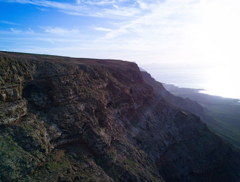 Nature Beauty In Nature Sky Scenics Landscape Tranquility Sea Tranquil Scene Day Outdoors Water No People Mountain Aerial Photography Dji DJI Mavic Pro Aerial View Canary Islands Volcanic Landscape Finding New Frontiers