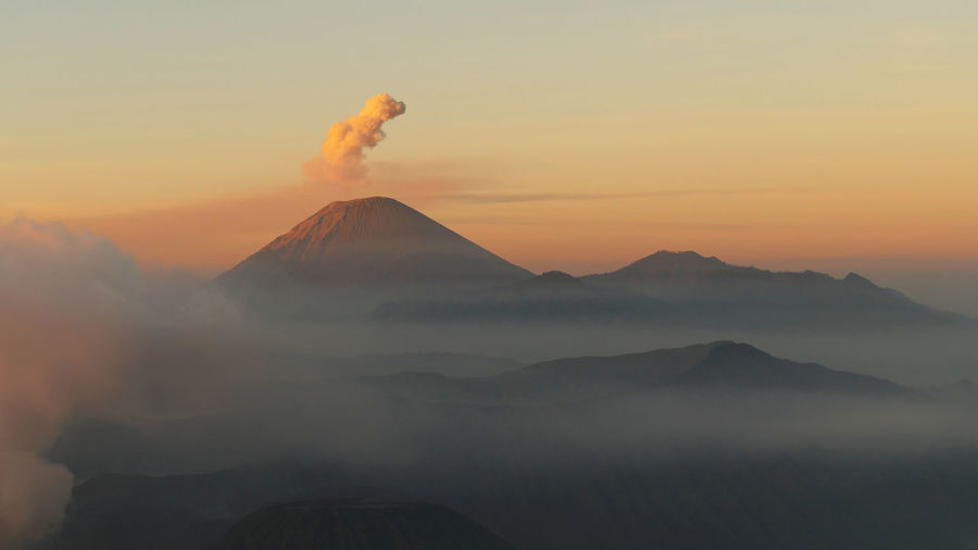 Bromo - Sunrise INDONESIA Java Bromo Dramatic Landscape Erupting Landscape Mountain Nature Scenics Sky Sunrise Sunset Volcano Vulcano