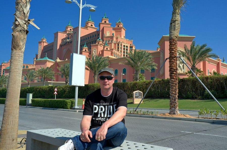 Я на фоне отель атлантис Дубай