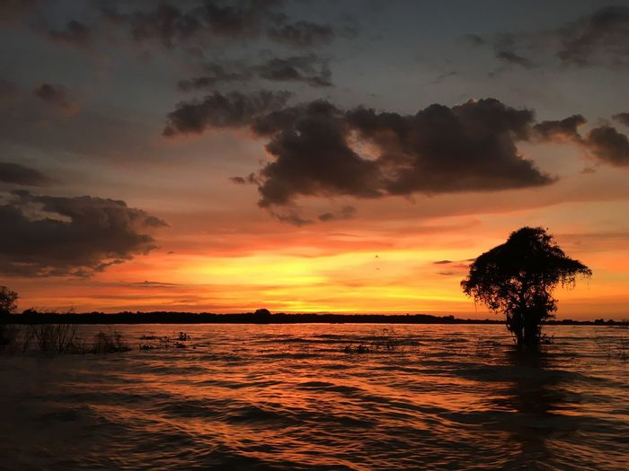 Sunset on Tonle Sap Lake. Sunset Tonle Sap Lake Cambodia