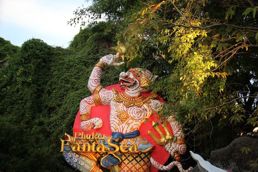 Bangkok Phuket Thailand Tourist Travel Fantasea Human Representation Sculpture Statue Tourism Travel Destinations Tree