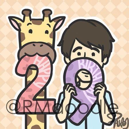 Saw from Rmdoodle and it is Lee Kwang Soo's birthday! Happy Birthday kirin! Kirin Giraffe Leekwangsoo runningman SBS