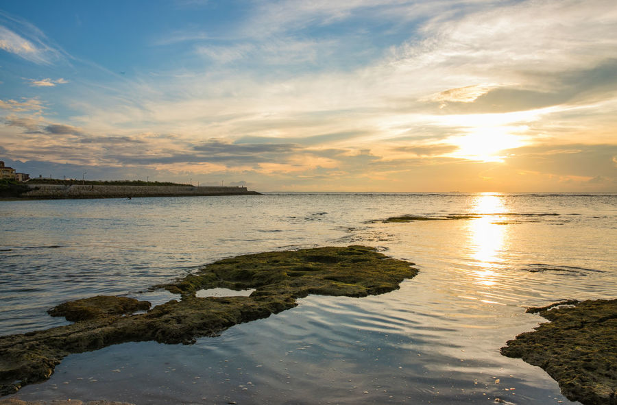 Holiday Okinawa Vacations Beach Beauty In Nature Cloud - Sky Day Horizon Over Water Idyllic Nature No People Outdoors Reflection Scenics Sea Sky Summer Sunset Tranquil Scene Tranquility Water