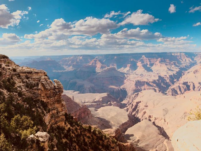 Grand Canyon National Park Beauty In Nature Scenics - Nature Cloud - Sky Mountain Tranquil Scene Sky Stay Out Non-urban Scene Tranquility Nature Landscape Mountain Range Rock No People The Great Outdoors - 2019 EyeEm Awards