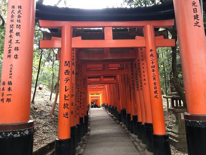 Architecture Built Structure The Way Forward Script Non-western Script Building Orange Color