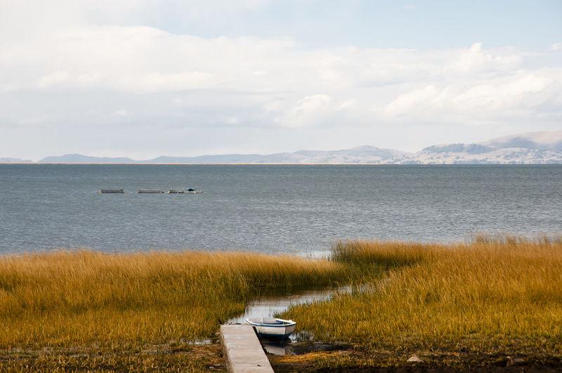 Lake Titicaca - Peru Lake Titicaca Peru Titicaca Titicaca Lake Boat Grass Nature Nautical Vessel Reed
