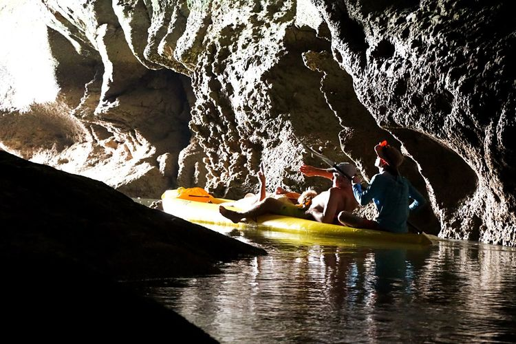 Adventure Club Happy People Light And Shadow Creative Light And Shadow From My Point Of View Enjoying Life Adventure Time! Kyaking Cave Tours Cave Adventure