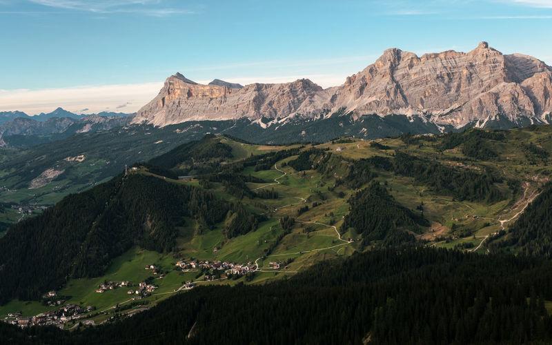 Alta val badia view from piz boè alpine lounge - alto adige sudtirol - italy