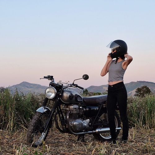 My two great loves. Motorcycles Caferacer Scrambler Sunset Exploring Adventure Getting Inspired Wanderlust First Eyeem Photo