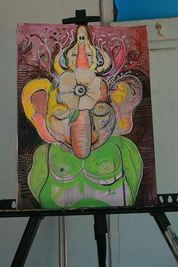 Ganesh - Art of Now Here Mindspen ArtLife Art Back To  Thailand