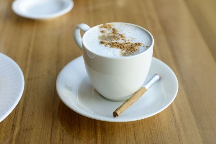 Breakfast Cinnamon Coffee Cup Of Coffee Cuppuccino Food Froth Mocha Saucer