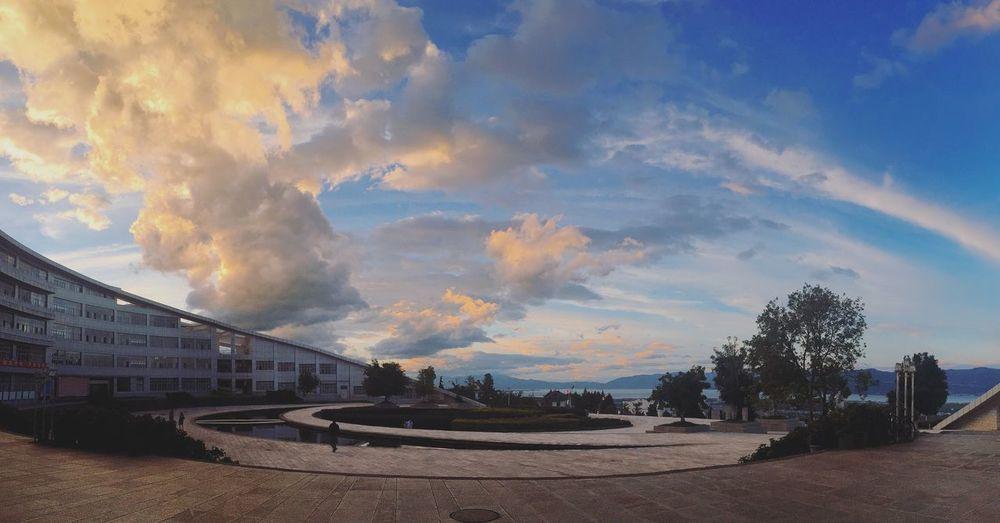 Hello World Naturallandscape Sunset Sky Clouds