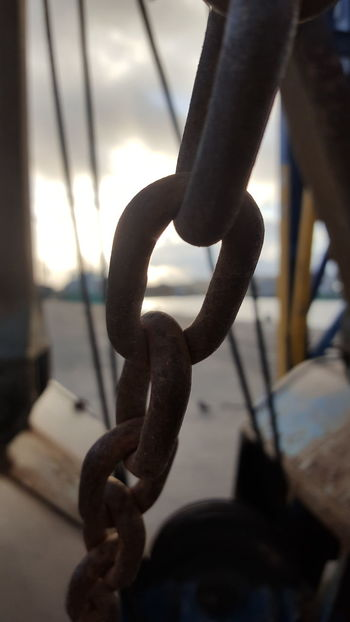 Strength Close-up Twilight Water No People Rust Rusty Metal Outdoor Photography Construction Dockyard Ireland Nofilter Noedit Chain Linked