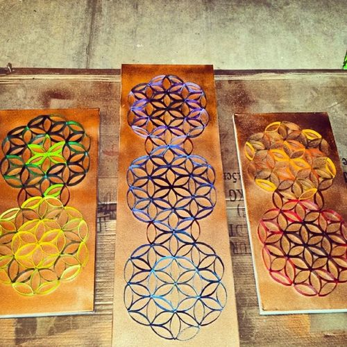 Finally finished my home project! Floweroflife Spiritual Sacredgeometry DIY diyhome diyhomedecor