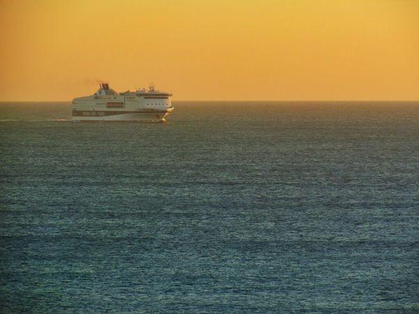 Sea Landscape Ship Italia EE_Daily: Orange Tuesday