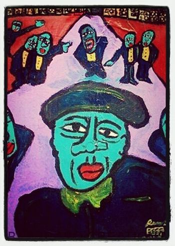 Acrylic on Canvas Painting Art City Art