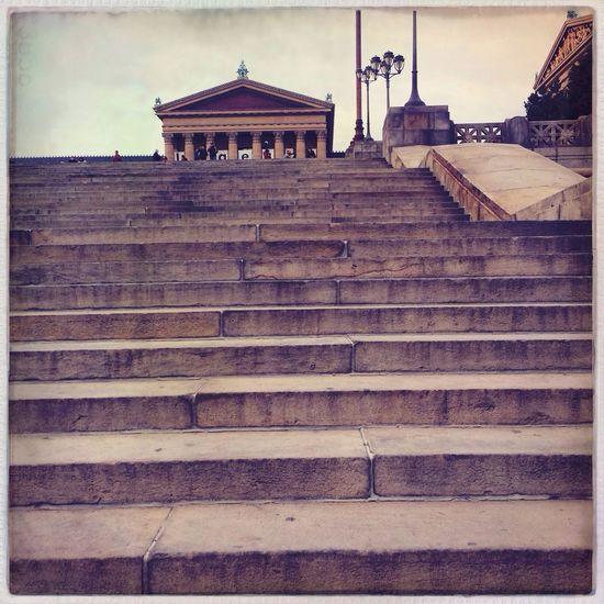 Stairs Philadelphia Architecture Urban Landscape