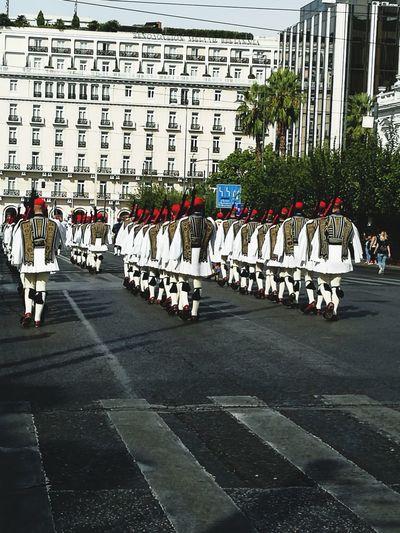 Proud To Be Greek Parade Greek Soldier Prosperous Guard Presidential Guard GREECE ♥♥ Discipline