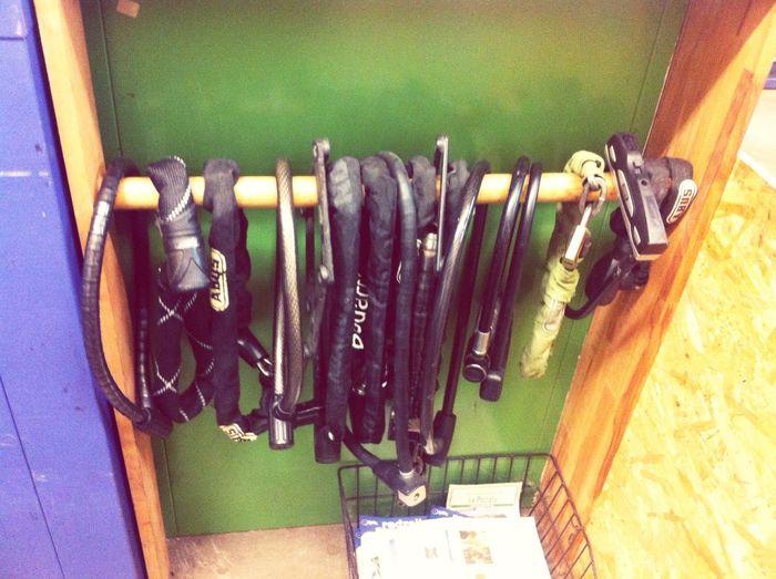 Lock-Bar at the best bike repairshop in the hood My Lovely Hood Kreuzberg Bicycle Locks