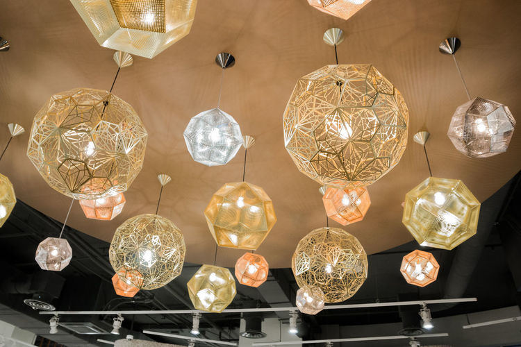light, restaurant lighting Hanging Lighting Equipment Decoration Indoors  Wealth Illuminated Chandelier Low Angle View No People Luxury Ceiling Electricity  Shiny Light Electric Light Crystal Glass - Material Pendant Light Glowing Large Group Of Objects Directly Below Electric Lamp Light Fixture