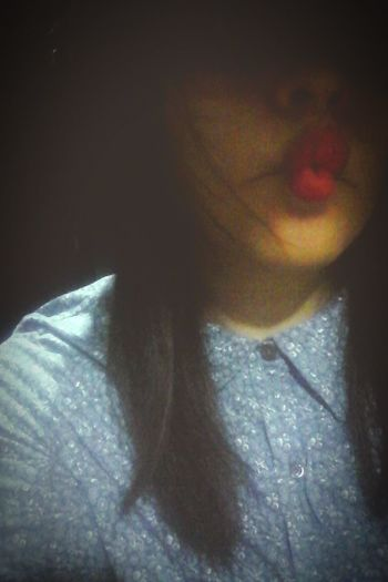 Red Lips Kiss ♥ Hair Style That's Me Taking Photos Fabian <3