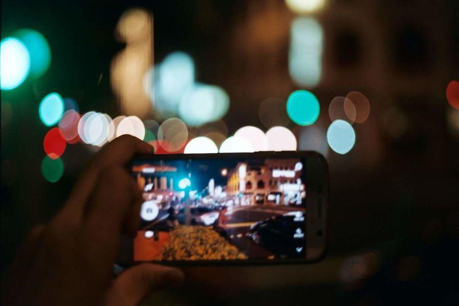 Smart phone on film Singapore Singaporestreetphotography Katong Film Photography Pentax K1000 35mm Fuji Superia 200 Bokeh Night Lights Night Out Night Photography Night Street Traffic Traffic Lights Samsung Galaxy S6
