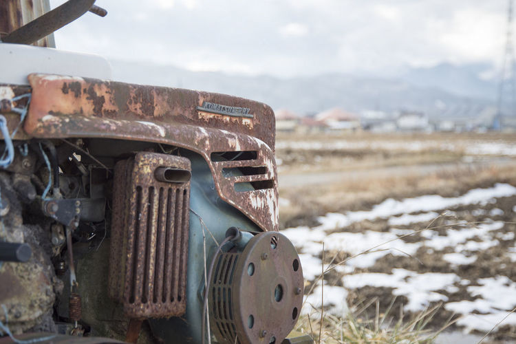 Close-up of abandoned truck