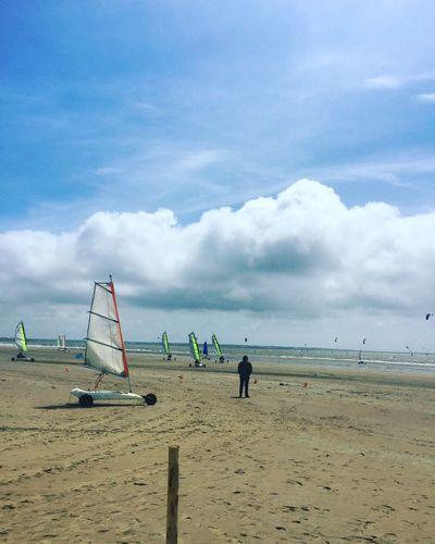 Beach Life Is A Beach Beach Life Beach Photography Wind Sky Kites Char à Voile Saint Brevin France France Photos Wind
