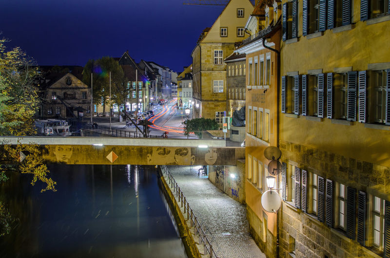 Building Exterior Architecture Built Structure City Water Building Night Reflection Illuminated Transportation Street Nature Residential District Mode Of Transportation No People Outdoors Land Vehicle Yellow Canal